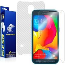ArmorSuit MilitaryShield Samsung Galaxy S5 Sport Screen +White Carbon Fiber Skin - $31.99