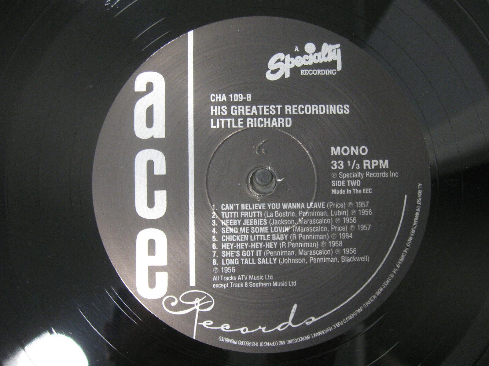 Little Richard His Greatest Recordings Ace CHA 109 Mono LP Record Album UK Press image 7