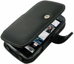 Monaco Book Type Black Leather Cover Case W/Detachable Belt Clip For Spr... - $19.55