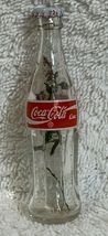 Russia Coke Coca-Cola Mini Miniature dried Purple flowers crystal glass bottle image 4