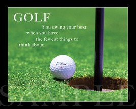Golf Ball On Course Photograph Saying Picture 8X10 New Fine Art Print Ph... - $4.99
