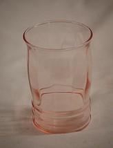 "Old Vntage MacBeth Evans 1930s Pink Depression 4"" Flat Juice Glass Ribbe... - $16.82"