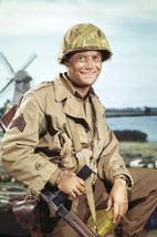 Vic Morrow in Combat! in uniform holding gun 18x24 Poster - $23.99