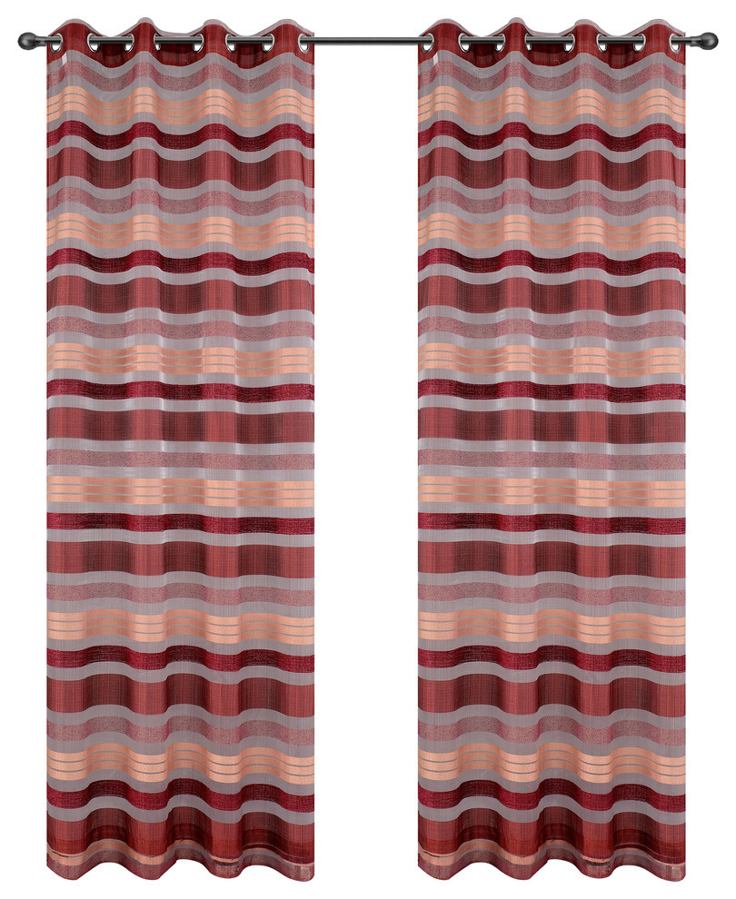 Becca Drapery Curtain Panels with Grommets image 15