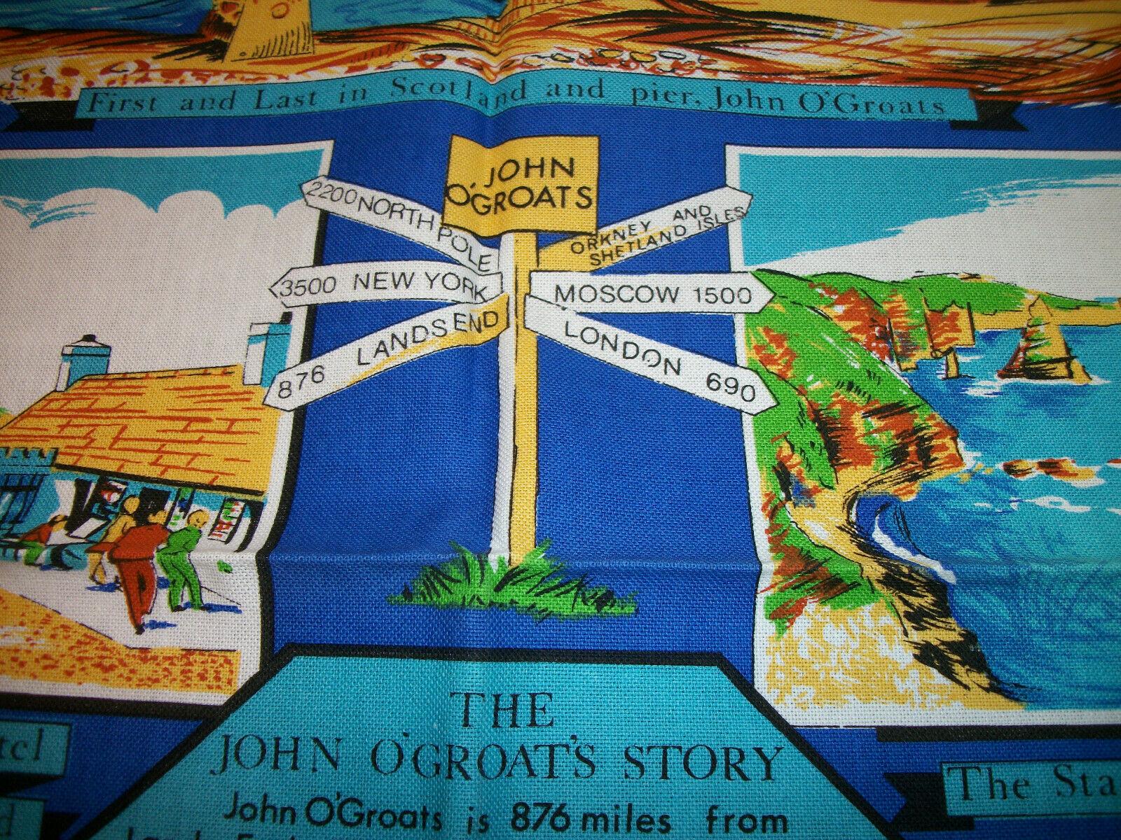 LOT 2  Vintage NWOT  Cotton Kitchen Tea  Towel UK souvenir image 4