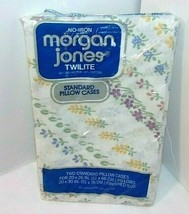 Vtg Petite Floral Flowers NEW Standard Pillowcases No Iron Morgan Jones ... - $20.74