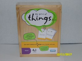 Parker Bros / Hasbro GAME OF THINGS, New in Wood Box Adult Party Game 4+... - $24.20