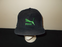 VTG-1990s Puma Shoes Apparel corduroy cat logo snapback hat sku12 - £33.96 GBP