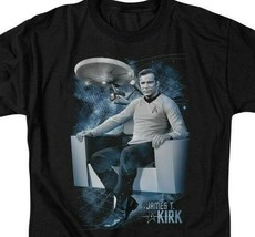 Star Trek Captain James T. Kirk Retro Science Fiction graphic t-shirt CBS1164 image 2