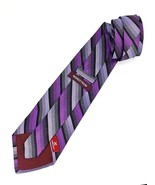 New NORDSTROM Silk Neck Tie Designer Made in Italy Purple & Black - $13.95