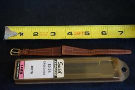 NOS Vintage Speidel Express Crocohide Leather Watch Band Strap 14mm Brown - $10.84