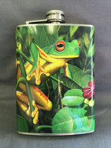 Reptile Frog D3 Flask 8oz Stainless Steel Drinking Whiskey Clearance item - $9.90