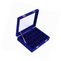 Ivosmart 24 Section Velvet Glass Jewelry Ring Display Organiser Box Tray... - €19,28 EUR