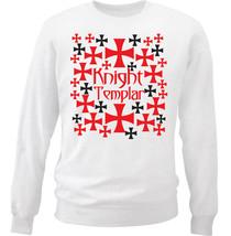 Knight Templar Pattern 10 - NEW WHITE COTTON SWEATSHIRT - $30.65