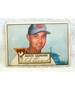 Dutch Leonard 1952 Topps Standing Pose Card#110 Very Good Condition-Cubs... - $29.69