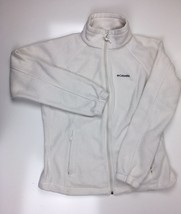 Colombia Women's Zip Up Fleece Jacket White Sz Large - $19.97