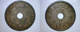 1934 N-GJ Danish 5 Ore World Coin - Denmark - $14.99