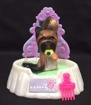 Vintage Littlest Pet Shop Silky Yorkie Pup & Styling Salon Puppy Dog Ken... - $13.95