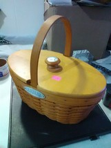Longaberger Oval Century Basket with Plastic Protector - Fixed Handle - 2000 - $18.35