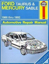 Ford Taurus and Mercury Sable 1986 Thru 1992 Automotive Repair  Manual (... - $7.43