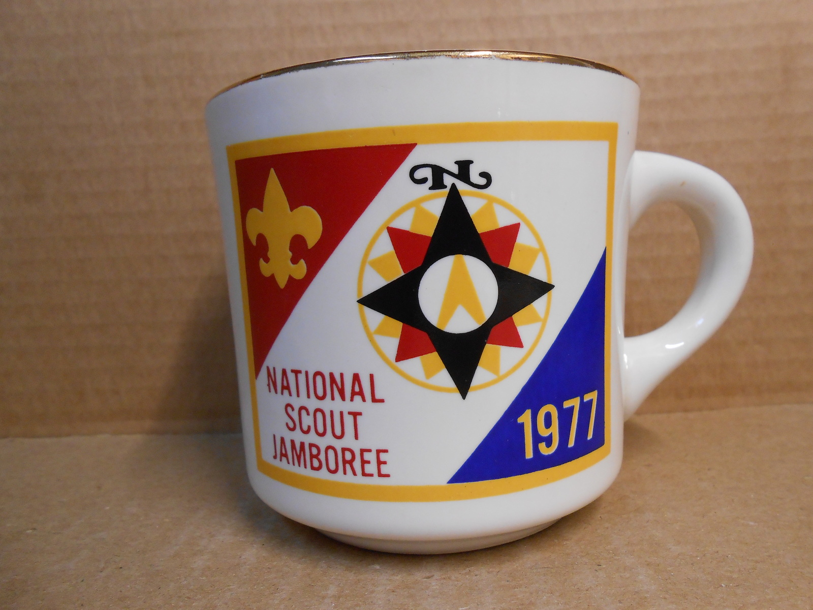 Primary image for NATIONAL SCOUT JAMBOREE 1977 CERAMIC MUG BOY SCOUTS OF AMERICA NEW MINT SM17