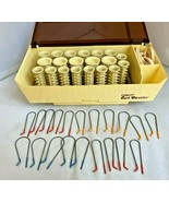 Vtg Conair Curl Dazzler Thermal Set Hot Rollers Complete w/Clips Clean W... - $39.55