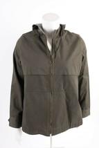 Zara Womens Jacket Coat Boxy fit Hooded Army Green XS 7901/245 Full zip NWT - $49.49