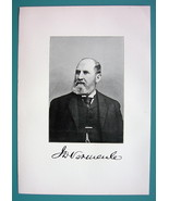 JOHN D. VERHEULE New Jersey Merchant & Banker - 1895 Portrait Antique Print - $6.30