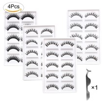 Fomei 20 Pair 4 Design Handmade Natural Black Long Thick Eyelashes Fake ... - $24.54