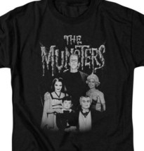 The Munster's family group photo t-shirt retro TV series graphic tee NBC768 image 2