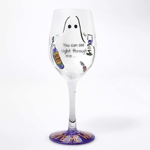Lolita You See Right Through Me Wine Glass Retired Rare Halloween Ghost ... - $30.63