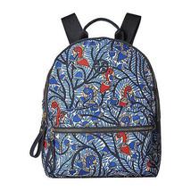 Tory Burch Tilda Blue Floral Nylon Leather Medium Backpack NWT - $222.26
