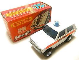 1975 Matchbox Lesney Rola-matics Police Patrol  MPN 20 Solid Blue Spinne... - $47.67