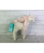 Crate and Barrel Kids Mythical Plush Unicorn Stuffed Animal Toy Off Whit... - $74.25
