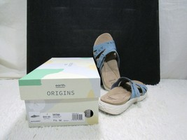 Moroccan Blue Suede Earth Origins Brand Westfield Waverly Slide Sandals,... - $25.95