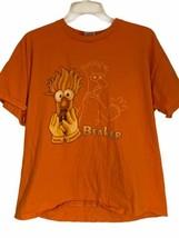 Muppets Beaker Mens Graphic T-Shirt Orange XL Vintage 90's Jim Henson Rare - $29.69