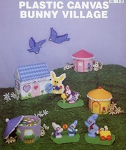 Bunny Village Houses Birds Wagon Plastic Canvas PATTERN/INSTRUCTIONS - $4.47