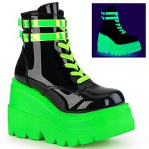 Demonia SHAKER-52 Women's Ankle Boots SHA52/BPT-UVNGN - $90.95