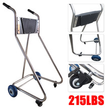 Stainless Steel Boat Outboard Motor Stand Cart Dolly With Wheel Enginee Carrier image 1