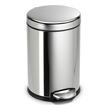 1 Gallon Trash Can With Lid Metal Stainless Steel Waste Kitchen Garbage ... - $29.99