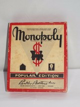 Monopoly 1951 Popular Edition w Wood Hotels Houses Mover Pieces No Board... - $15.00