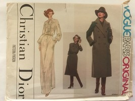Vintage Christian Dior Vogue Paris Sewing Pattern 1734 UNCUT Gown Dress 12 - $17.82