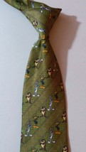 NEW LOONEY TUNES Necktie Green Stripes with BUGS DAFFY & TAZ NWOT - $14.01