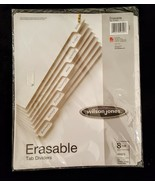 Wilson Jones Erasable Tab Dividers 8 Tab Set White 3 Hole Punched New 8.... - $9.88