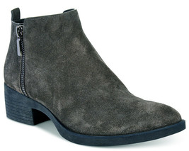 NIB Brand New Ladies Kenneth Cole Levon Asphalt Grey Leather/Suede Ankle Boots
