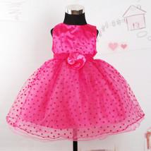 Love Heart Flower Girl Dress Party Bridesmaid Wedding Dress - $21.48