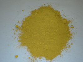 CONCRETE, CEMENT, PLASTER COLOR 1 LB. MAKES STONE, PAVERS, TILE, BRICK - YELLOW image 1