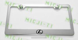 Lexus L logo Stainless Steel License Plate Frame Rust Free W/ Bolt Caps - $11.50