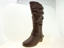 Journee Collection Tiffany Womens Slouch Riding Boots Brown Size 8.5 M - $34.64