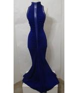 JIMMY GAMBA Mermaid Gown 100% Wool Purple Snake Skin Trim Ruched Gathered 8 - $719.99